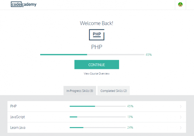 Learn Programming Online Using codecademy.com home